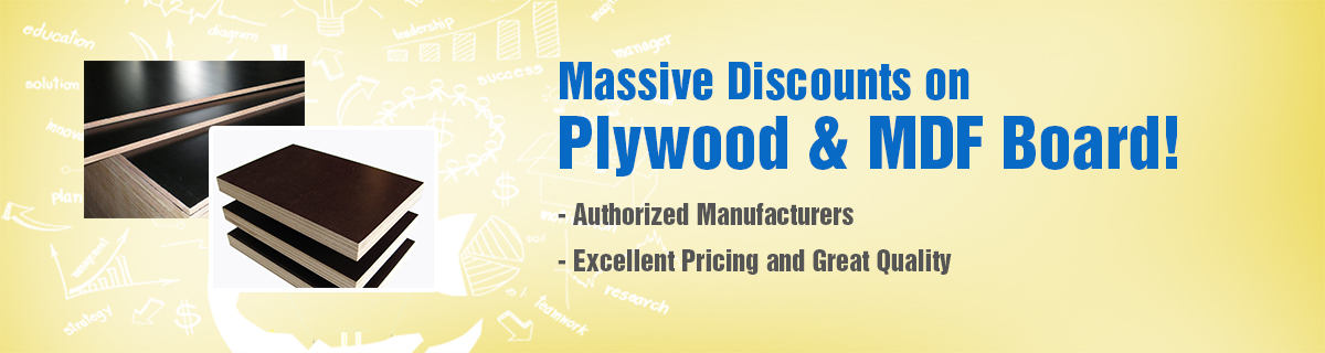 Massive Discounts on Plywood & MDF Board